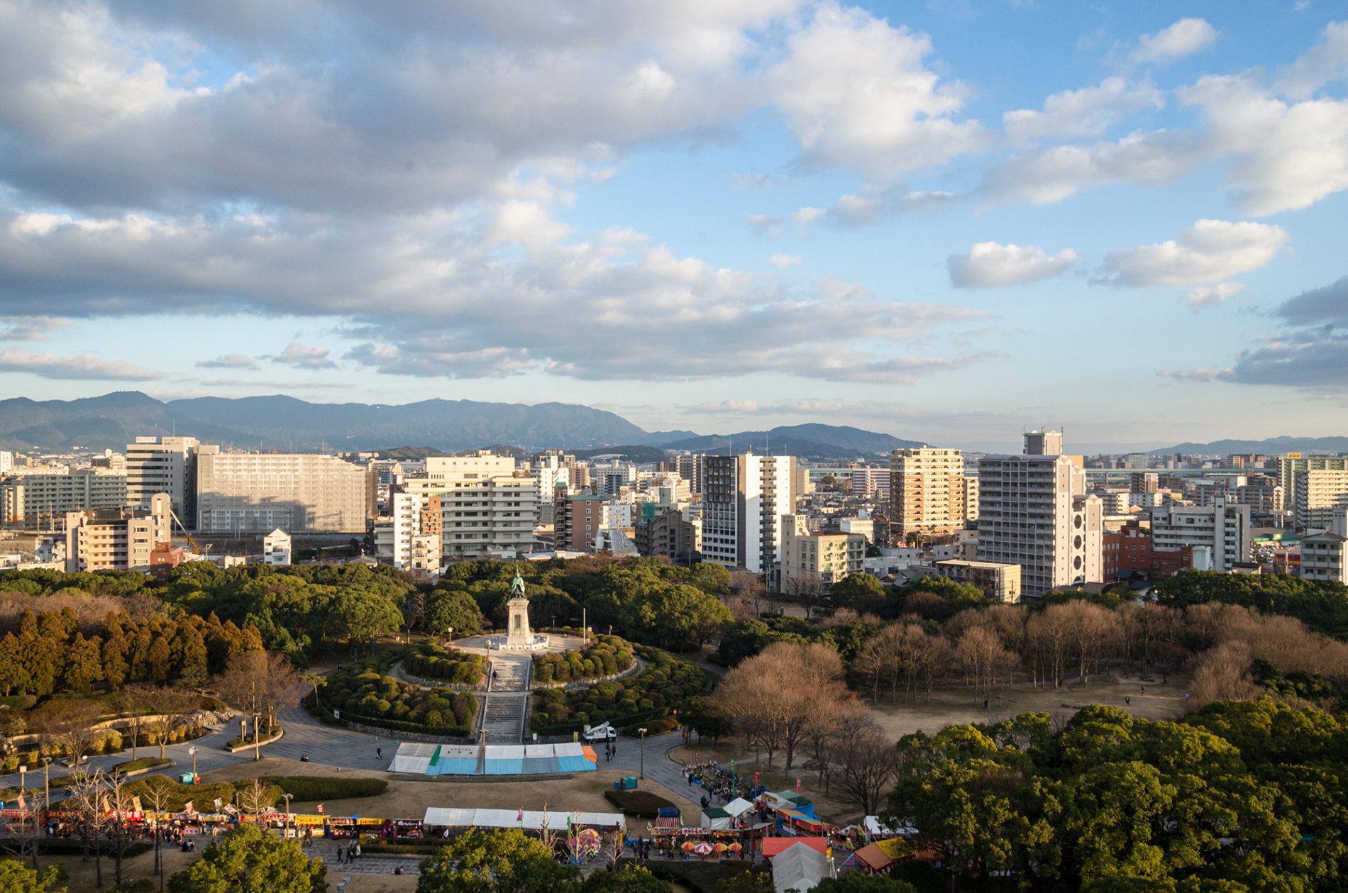 十日恵比寿開催中の東公園の写真