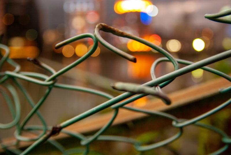 金網(フェンス)の写真
