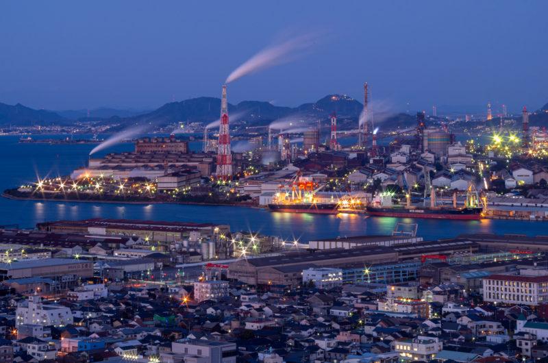 福岡県北九州市工場夜景