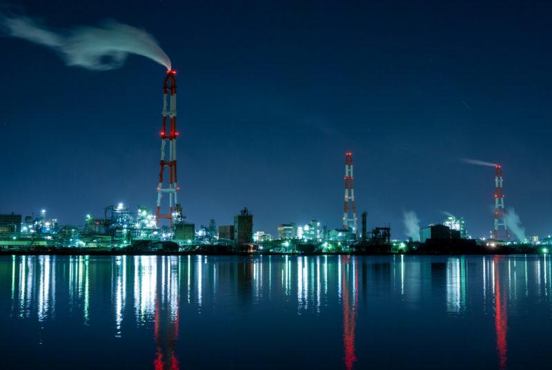 福岡県北九州市工場夜景:三菱ケミカル㈱黒崎事業所の写真