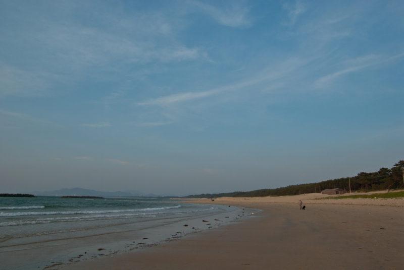 海岸 浜辺 海 空 砂浜