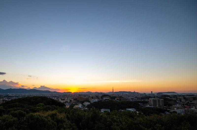 沈む夕陽,夕日,夕暮れの空,夕景写真