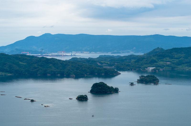 日本が島国という海と山の風景写真(九州、佐賀)
