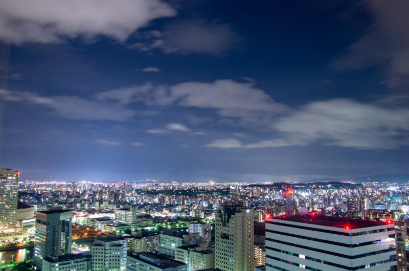都市(福岡)の街の夜景