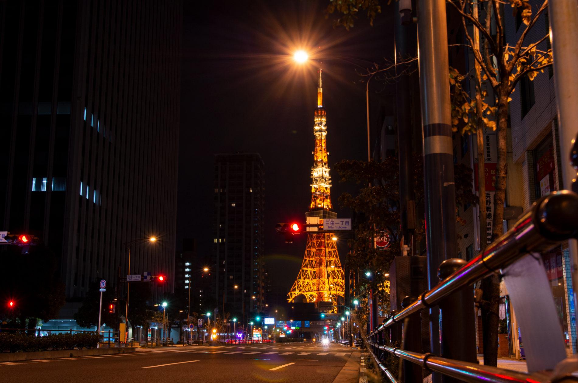 三田1丁目からの東京タワー