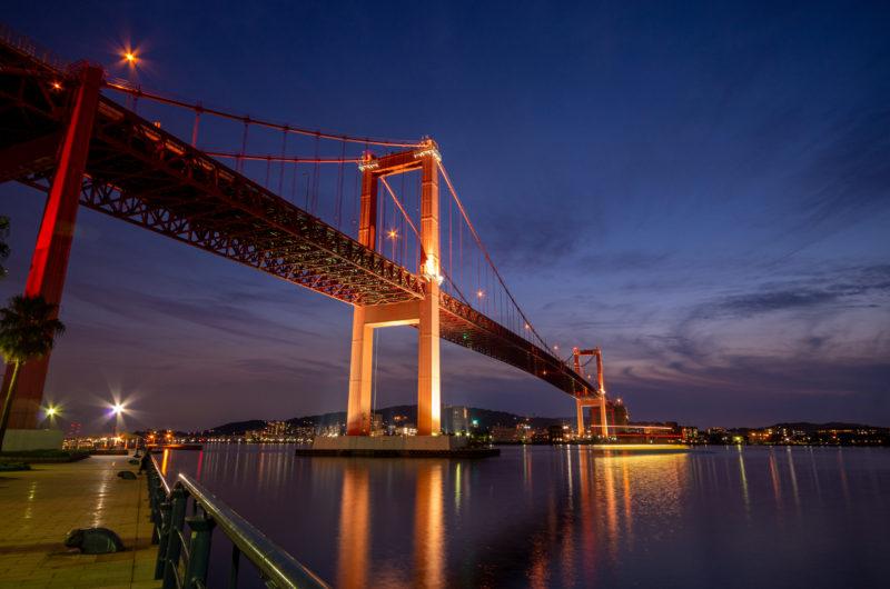 福岡県北九州市若松区 若戸大橋 夜景