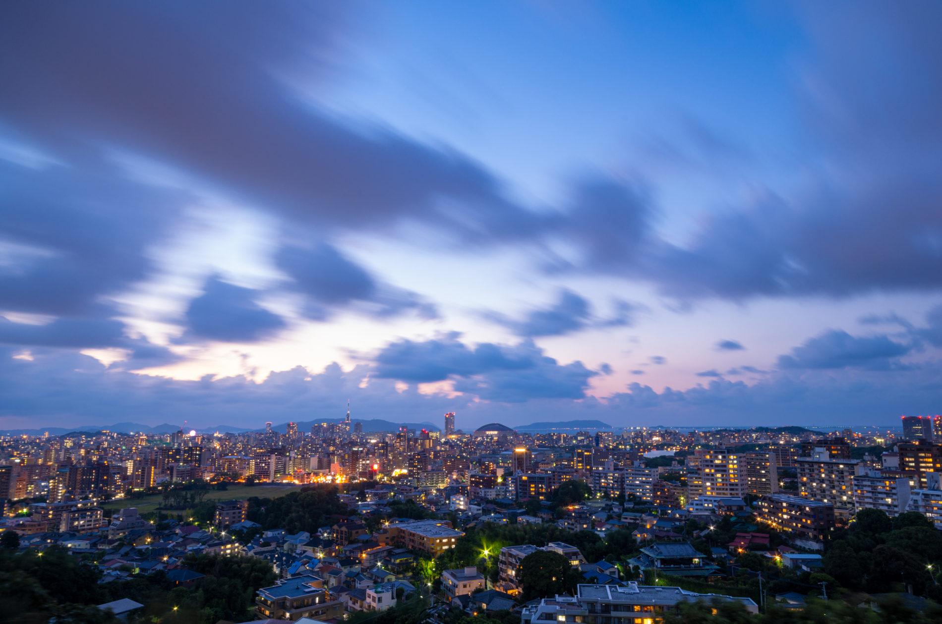 福岡県福岡市ドーム周辺夜景